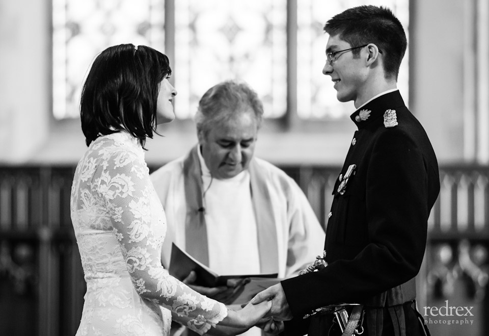 Military Wedding, Bride and Groom
