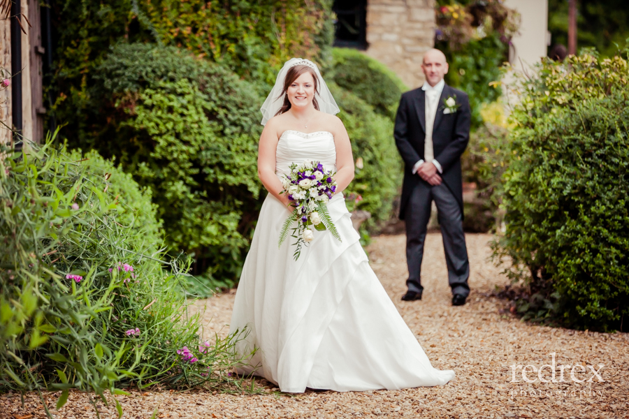 Bride and Groom outside, St Giles Church Northampton
