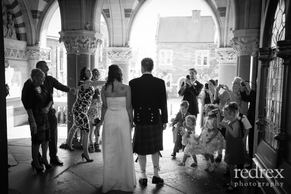 Bride and Groom in Guildhall Wedding Northampton