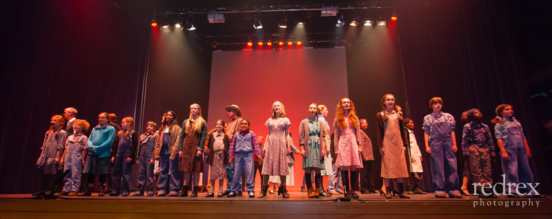 Whistle Down the Wind dress rehearsal Group