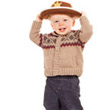 Toddler with Cowboy Hat