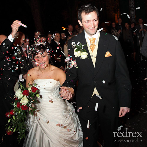 St Giles Church Confetti Bride & Groom